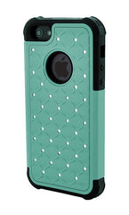 iPhone 4/4S Armor Teal Diamond