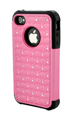 iPhone 4/4S Armor Pink and Black Diamond