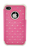 iPhone 5/5S Armor Pink and White Diamond