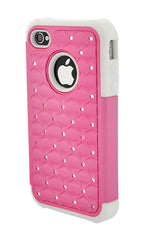 iPhone 4/4S Armor Pink and White Diamond