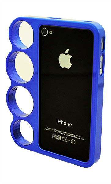 d5c8fc7a71466a The Smartphone Mall - iPhone 4 4S Chrome Ring Blue