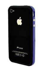 iPhone 4/4S Bumper Black and Dark Blue/Purple