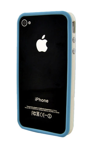 iPhone 4/4S Bumper Light Blue and White
