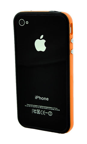 iPhone 4/4S Bumper Black and Orange
