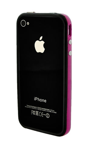 iPhone 4/4S Bumper Black and Purple