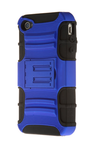 iPhone 4/4S Blue & Black Stand Up