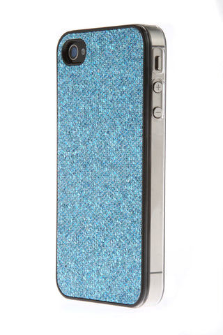 iPhone 4/4S Glitter Light Blue