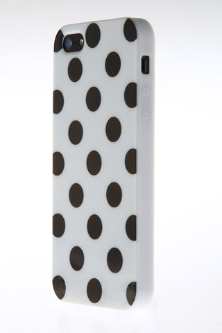 iPhone 5/5S Polka Dot White & Black