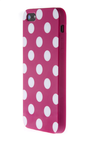 iPhone 5/5S Polka Dot Purple & White