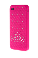 iPhone 4/4S Crown Diamond Hot Pink Soft