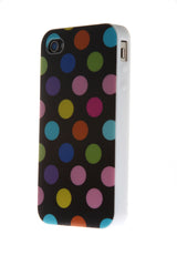 iPhone 4/4S Polka Dot Black & Multi Color