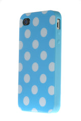 iPhone 4/4S Polka Dot Light Blue & White
