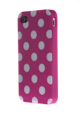 iPhone 4/4S Polka Dot Purple & White