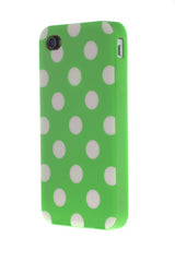 iPhone 4/4S Polka Dot Green & White