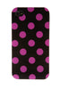 iPhone 4/4S Polka Dot Black & Pink
