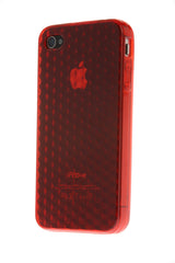 iPhone 4/4S Diamond Shape Rubber Red