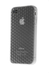 iPhone 4/4S Diamond Shape Rubber Silver