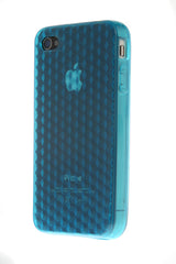 iPhone 4/4S Diamond Shape Rubber Blue