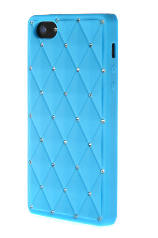 iPhone 5/5S Diamond Stud Light Blue Soft