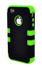 iPhone 4/4S Heavy Duty Front/Back Green Stripe