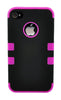 iPhone 4/4S Heavy Duty Front/Back Hot Pink Stripe