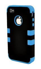 iPhone 4/4S Heavy Duty Front/Back Teal Stripe
