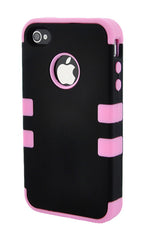 iPhone 4/4S Heavy Duty Front/Back Pink Stripe