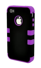 iPhone 4/4S Heavy Duty Front/Back Purple Stripe