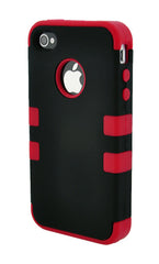 iPhone 4/4S Heavy Duty Front/Back Red Stripe