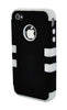 iPhone 4/4S Heavy Duty Front/Back White Stripe