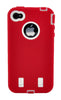 iPhone 4/4S Heavy Duty Front/Back Red/White