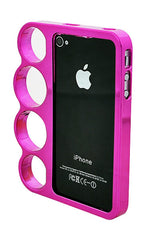 iPhone 5/5S Chrome Ring Hot Pink