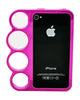 iPhone 4/4S Chrome Ring Hot Pink
