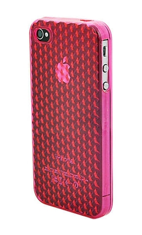 iPhone 4/4S Diamond Shape Rubber Pink