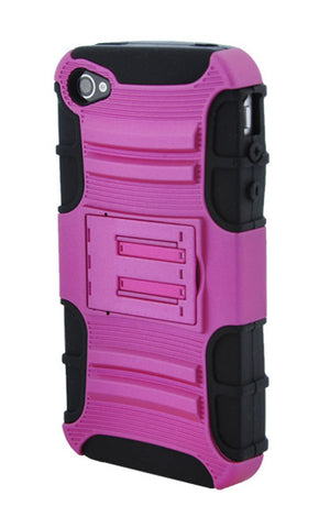 iPhone 4/4S Pink and Black Stand Up