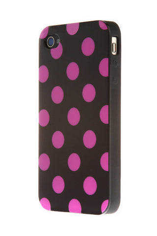 iPhone 6 Plus Polka Dot Black and Pink