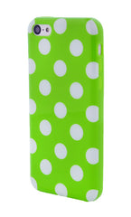 iPhone 5C Polka Dot Lime Green and White