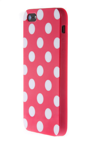 iPhone 6 Plus Polka Dot Pink and White