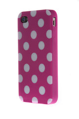 iPhone 5C Polka Dot Purple and White