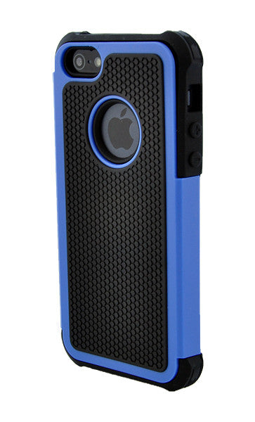 03bd8ba7495dc3 The Smartphone Mall - iPhone 4 4S Shockproof Blue and Black