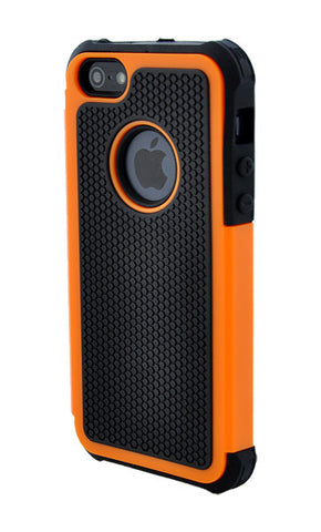 iPhone 5/5S Shockproof Orange and Black