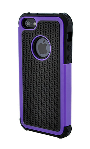 iPhone 5C Shockproof Purple and Black