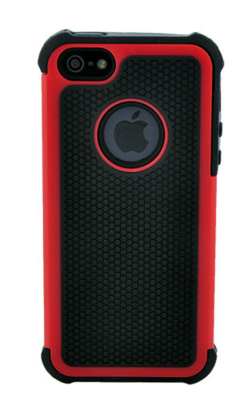 IPhone 5 5S Shockproof Red And Black
