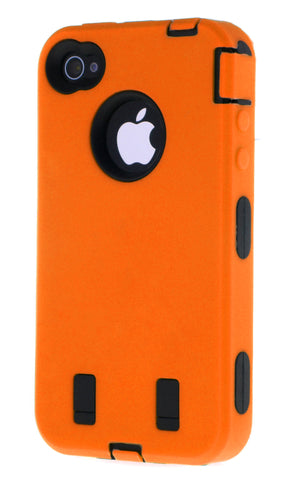 iPhone 4/4S Heavy Duty Front/Back Orange