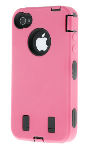 iPhone 4/4S Heavy Duty Front/Back Pink