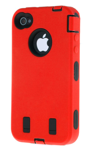 iPhone 4/4S Heavy Duty Front/Back Red