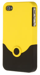 iPhone 4/4S Plastic Yellow and Black