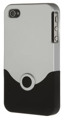 iPhone 4/4S Plastic Silver and Black