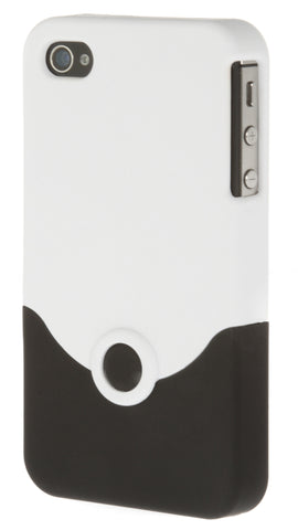 iPhone 4/4S Plastic White and Black
