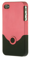 iPhone 4/4S Plastic Hot Pink and Black